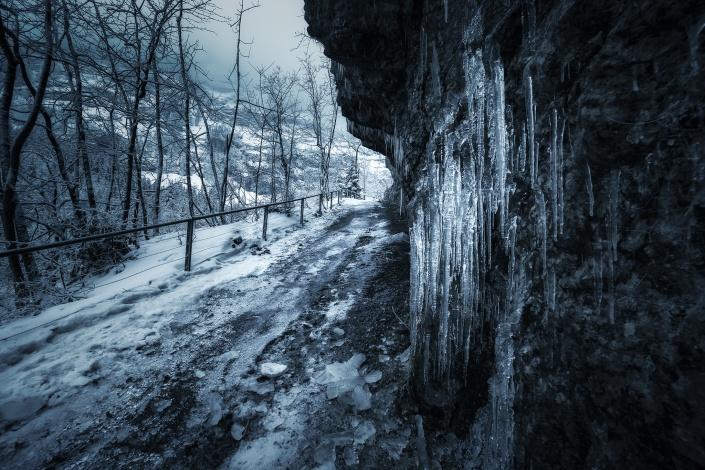 seealpsee, wandern, wanderung, wanderweg, eis, winter, eiszapfen, glatt, schnee, kalt, wasserauen, appenzell, appenzeller land, schweiz, säntis, ebenalp