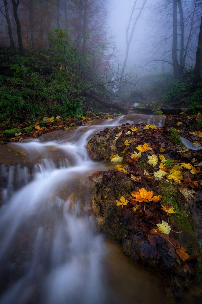 Bad Uracher Wasserfall im Herbst