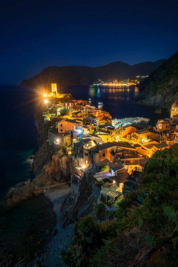 Cinque Terre's Vernazza at Night